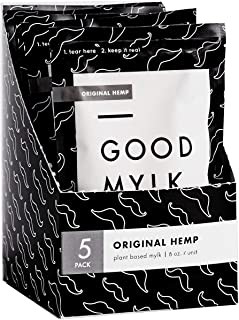 Goodmylk Co. - Ready to Drink Hemp Milk (10 Pack) - 8 oz Ready to Drink Packets - Organic, Non-GMO, Vegan, Low Glycemic, Sustainable, Keto, Dairy Free (Original)