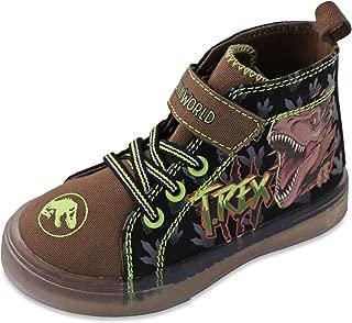 Jurassic World Boy's Canvas Hi Top Sneakers Toddler/Little Kid Black