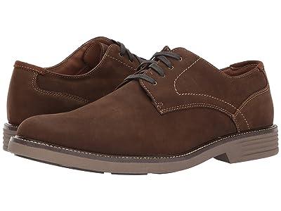 Dockers Parkway Plain Toe Oxford (Brown Waxy Nubuck) Men
