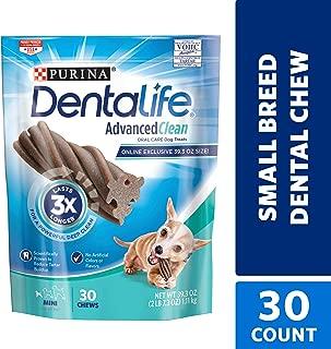 Purina DentaLife Made in USA Facilities Dog Dental Chews, Advanced Clean Mini - 30 ct. Pouch
