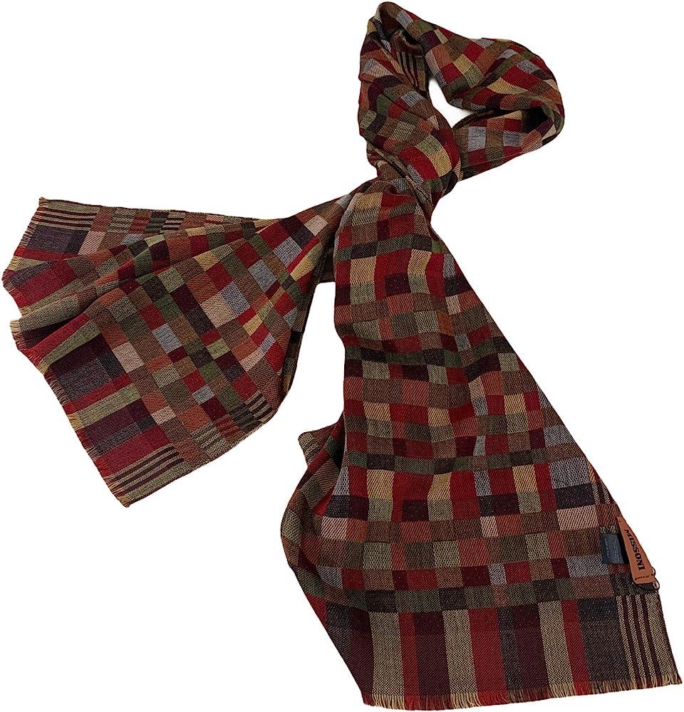 Missoni, sciarpa fantasia quadri lunga180cm e larga 50 cm