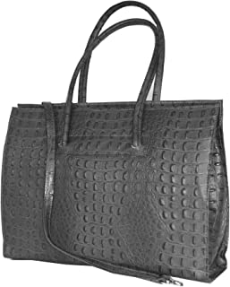 Leather ladies business bag / Briefcase / laptop bag con tracolla ( 49 / 28 / 13 cm)pelle Italia mod. 2026 p