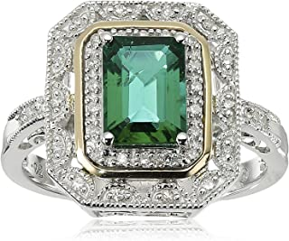 art deco style emerald ring