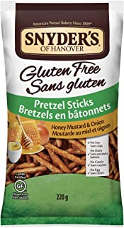 Snyders Gluten Free Honey Mustard and Onion Pretzel Sticks, 220 Grams