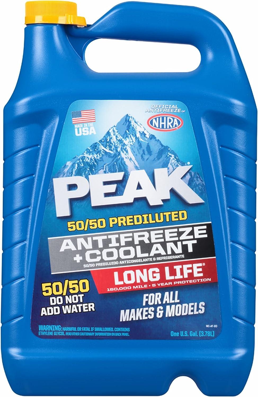Amazon.com: Peak 50/50 anticongelante y refrigerante prediluido, 2 pk./1 galón. : Automotriz