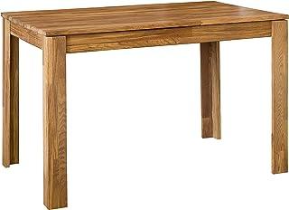 NordicStory Table de salle à manger extensible rectangulaire L2, bois massif chêne naturel, style nordique ou scandinave, ...