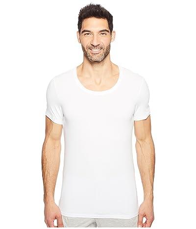 Hanro Cotton Superior Short Sleeve Crew Neck Shirt (White) Men
