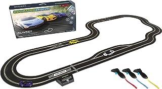 Scalextric ARC Pro App Race Control Sunset Speedway Slot Car Digital 1:32 Race Track Set C1388T,White, Yellow & Purple
