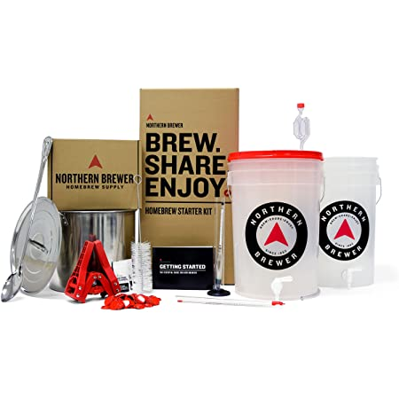 Northern Brewer - Brew. Share. Enjoy. HomeBrewing Starter Set, Equipment and Recipe for 5 Gallon Batches (Hank's Hefeweizen)