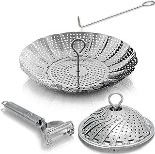 Kitchen Deluxe Steamer Basket – For Instant Pot Accessories 3, 5, 6 Qt & 8..