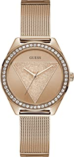 GUESS Women's Year-Round Quartz Watch with Stainless Steel Strap, Rose Gold, 16 (Model: W1142L4)