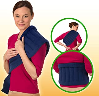 Sponsored Ad - Microwave Heating Pad for Back Pain Relief - Body Cramps, Neck & Shoulders Heating Pads - Reusable Moist Pa...