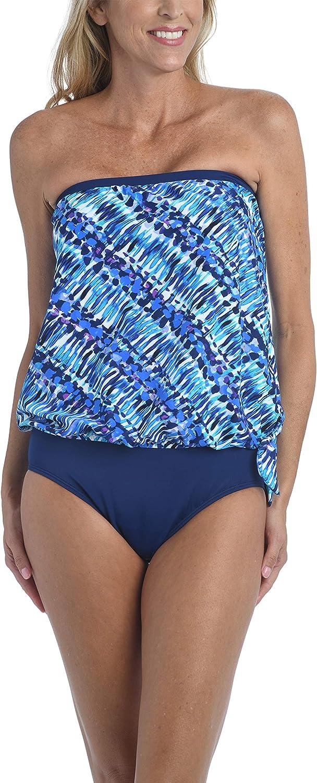 Maxine Of Hollywood Women's Standard Bandeau Tankini Swimsuit Top