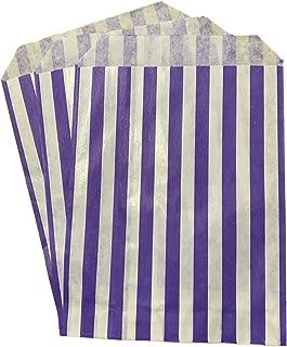 bolsas de dulces de fiesta 10x14 bolsa de papel a rayas Packitsafe Bolsas de caramelos rosas 250x350mm