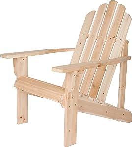 Shine Company Inc. 4618N Marina Adirondack Chair, Natural
