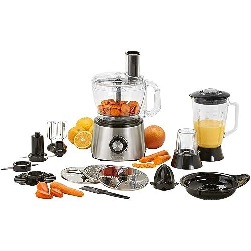 Robot de cuisine 15-in-1 Princess 220140 – Ensemble complet – Acier inoxydable