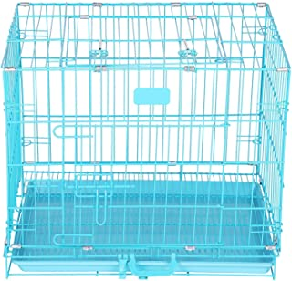 Pet Zone India Easy to Move and Comfortable Dog Cage (30 Inch) Color Blue