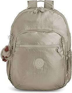 Kipling Seoul GO Laptop Backpack, Metallic Pewter