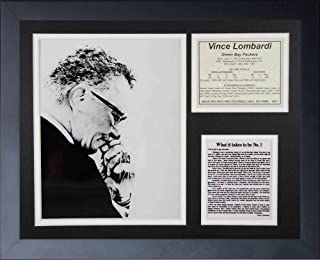 Legends Never Die Vince Lombardi Creed Framed Photo Collage, 11x14-Inch