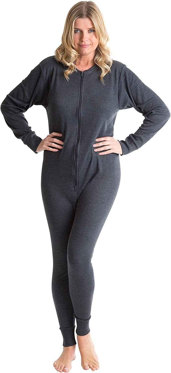 Octave 6 Pack Womens Thermal Underwear All in One Union Suit/Thermal Body Suit