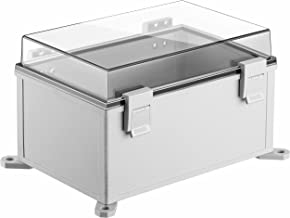 Gratury Junction Box, Hinged Cover Transparent Lid IP65 Waterproof Plastic Enclosure for Electrical Project Included Inter...
