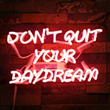Neon Signs DON'T QUIT YOUR DAYDREAM Beer Bar Bedroom Neon Light Handmade Glass Neon Lights Sign for Bedroom Office Hotel Pub Cafe Recreation Room Wall Decor Night Light 15