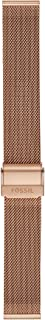 Fossil Women's 18mm Stainless Steel Mesh Watch Band, Color: Rose Gold (Model: S181375)