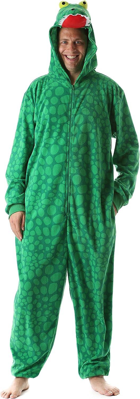 Just Love Adult Onesie Mens Pajamas Alligator