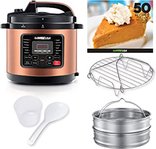 GoWISE USA GW22702 Pressure Cooker, 10-QT, Copper