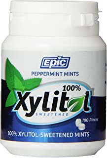 Epic Peppermint Xylitol Dental Mints 180 Pieces, 0.105 count