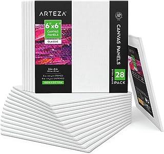 Arteza - Paneles cuadrados de lona en blanco, 28 unidades, 1