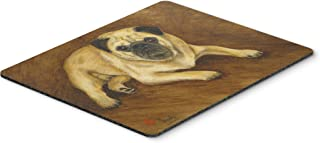 Caroline's Treasures MH1062MP Fawn Pug Roscoe Mouse Pad, Hot Pad or Trivet, Large, Multicolor