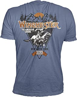 Official Winchester Lone Rider Graphic Short Sleeve Men's Cotton T-Shirt (Regular - 3XL Size)