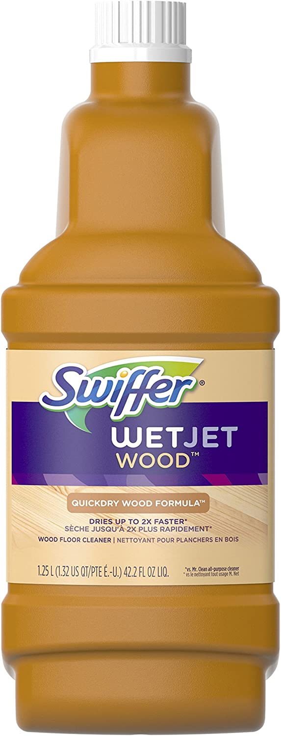 SEAL limited product Swiffer WetJet Ranking TOP2 Wood Floor Cleaner Refill fl oz Solution 42.2