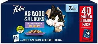Felix As Good As It Looks 7+ Cat Food Mixed 40x100g