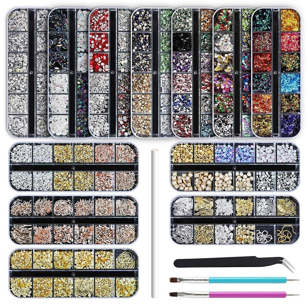 Artdone Las Max 66% OFF Vegas Mall 12 boxes Nail Diamonds Gems Rhinestones A