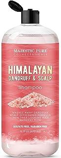 Majestic Pure Himalayan Sulfate Free Dandruff and Itchy Dry Scalp Shampoo, 16 fl. oz. - Washes Away Dandru...