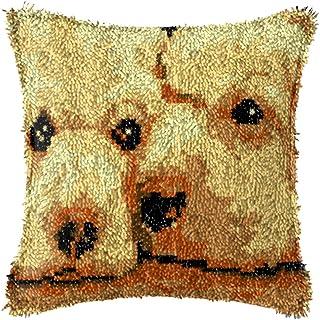 Crochet De Loquet Kit Oreiller Couvercle DIY Débutant Crochet Kit De Décoration Accueil Crochet Crochet 17 X 17 Pouces (Co...