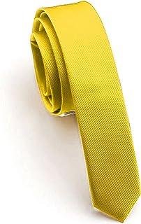 "JEMYGINS 1.58"" Solid Color Skinny Tie Slim Necktie for Men(4cm)"