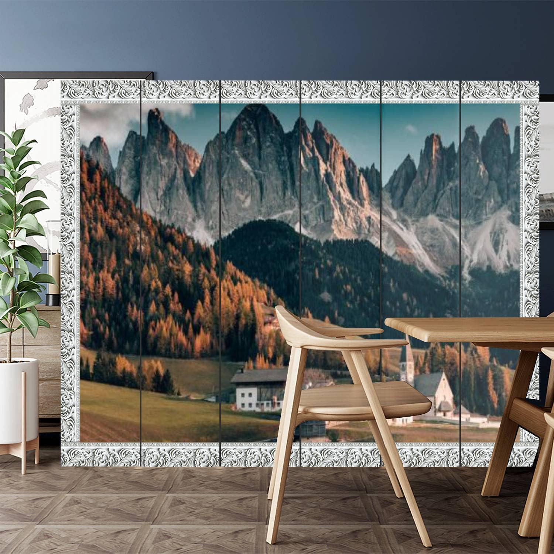 Canvas Room Divider Screen Privacy Award i Partition Dolomites - Peaks Direct sale of manufacturer