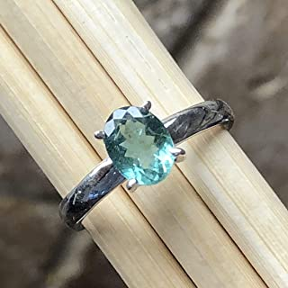 seafoam green tourmaline engagement ring