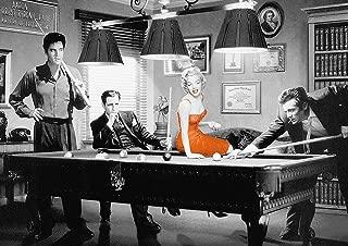 Dynamo Printing Ltd Póster de Hollywood Legends Marilyn Monroe Elvis Presley James Dean Billiards (A2, 594 x 420 mm)