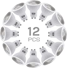 SINCELIGHT GU10 LED Light Bulb 100° Reflector, 6W, RA≈92, Cool White 6000K, Non-Dimmable, 550 Lumens Equivalent to 50W Hal...