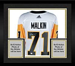 Framed Evgeni Malkin Pittsburgh Penguins Autographed White Adidas Authentic Jersey - Fanatics Authentic Certified