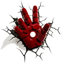 3DLightFX 816733840598 Marvel Avengers Iron Man Hand 3D Deco Light,Red