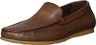 Cambridge Select Mens Slip-On Padded Comfort Boat Driving Moccasin Loafer,10,Camel Pu