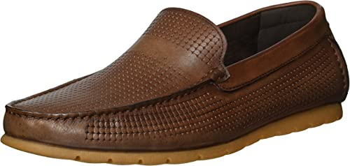 Kenneth Cole REACTION Hommes's Hendrix Slip ON Loafer, Cognac, 8.5 M US