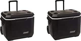 Coleman Xtreme Series Wheeled Cooler, 50 Quart (2 PACK, BLACK)