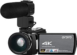 Video Camera 4k Camcorder 1080P 60FPS Digital Zoom 3.0