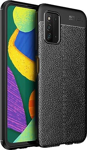 جراب RanTuo لهاتف Samsung Galaxy F52 5G، مضاد للخدش، سيليكون ناعم، مقاوم للصدمات، غطاء لهاتف Samsung Galaxy F52 5G. (أسود)